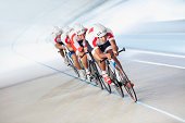 istock Competitors on cycling track 129179549