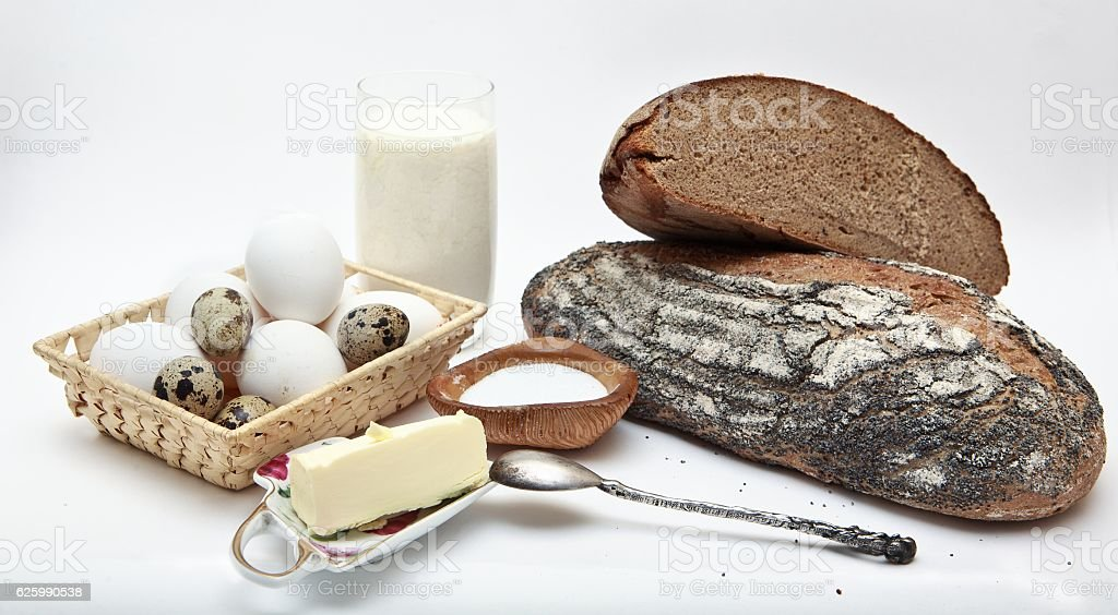 compisition of diary products stock photo