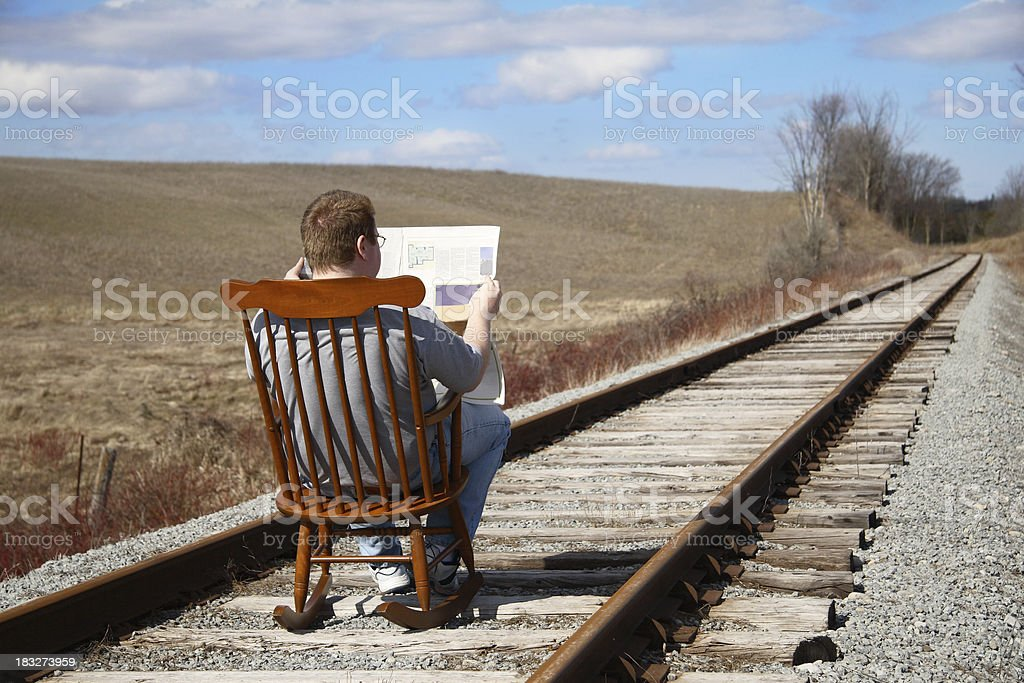 Complacency stock photo