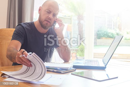 istock Complaining to customer services 1003183128