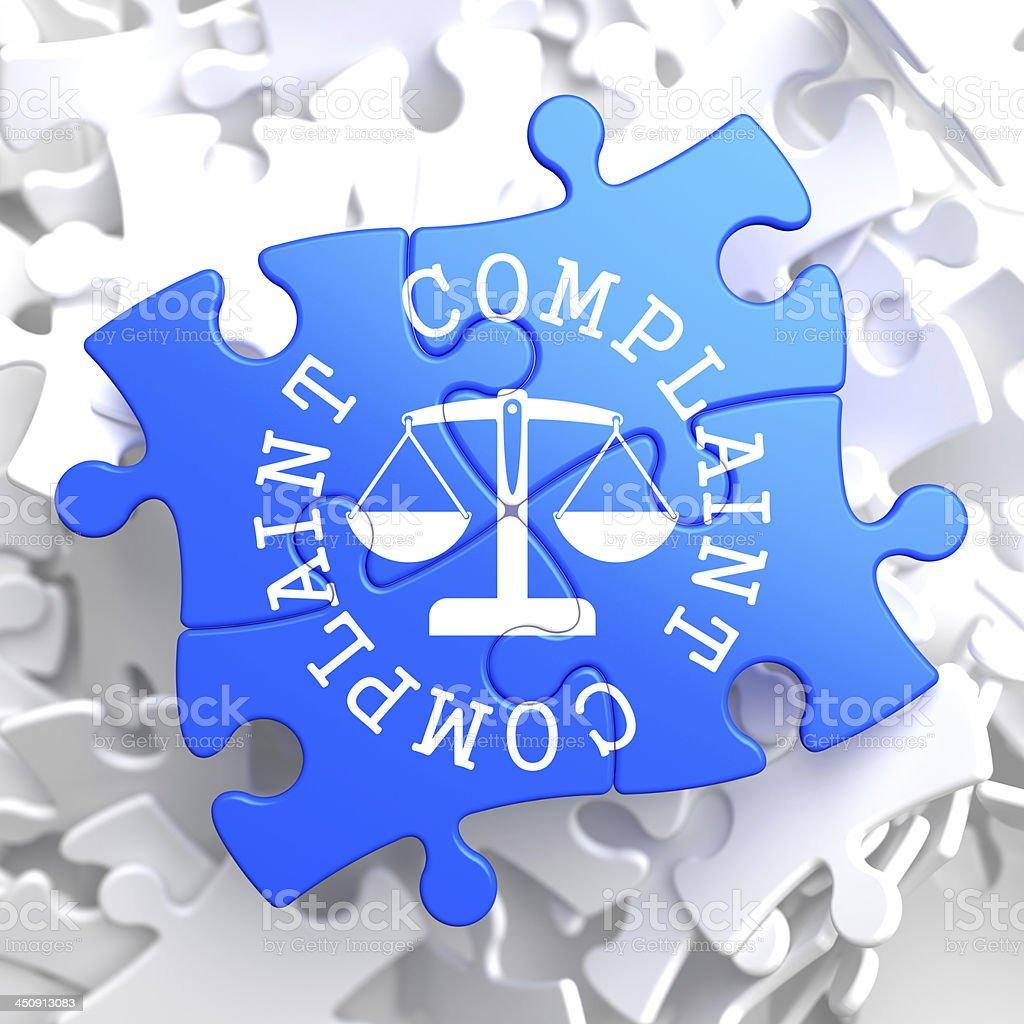 Complaint Concept on Blue Puzzle. stock photo
