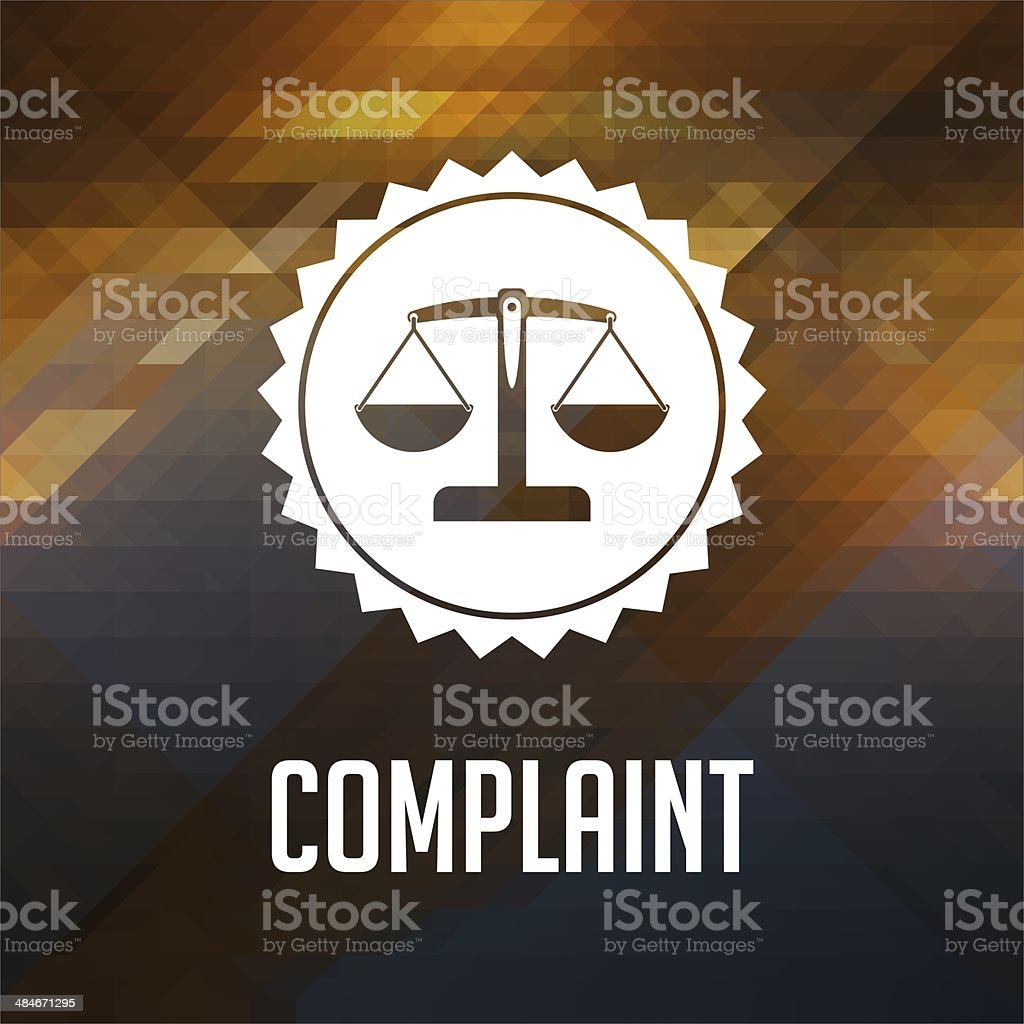 Complaint Concept on Triangle Background. stock photo