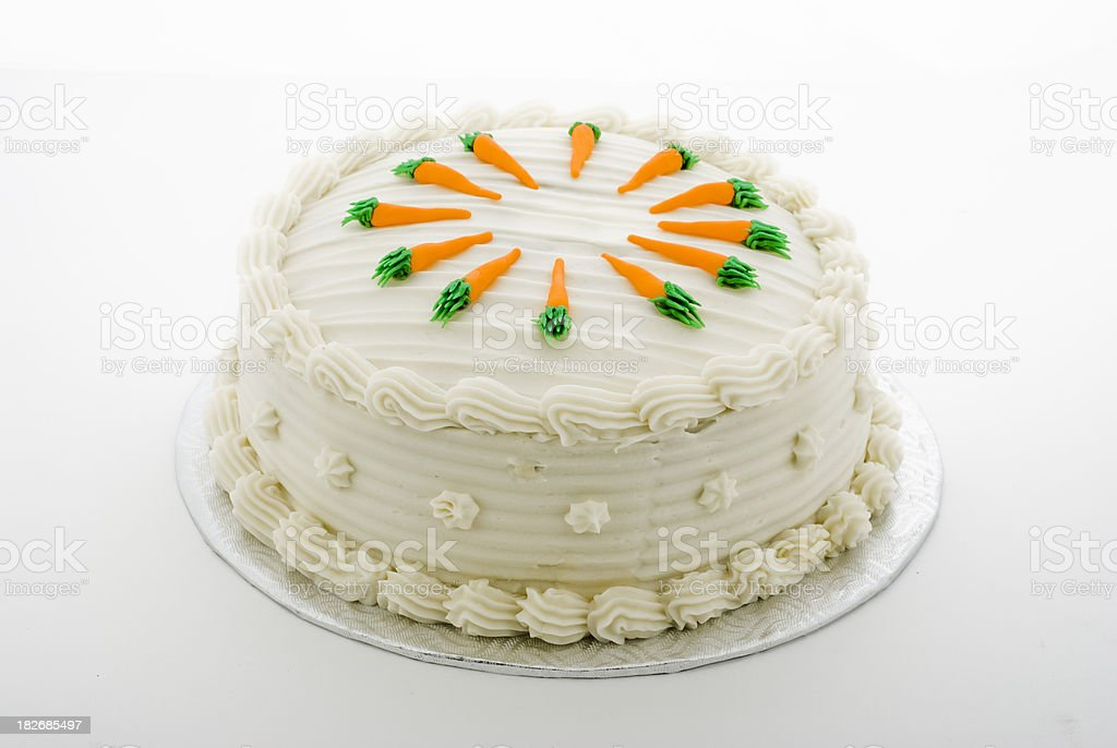 complete carrot cake, gateau carottes royalty-free stock photo