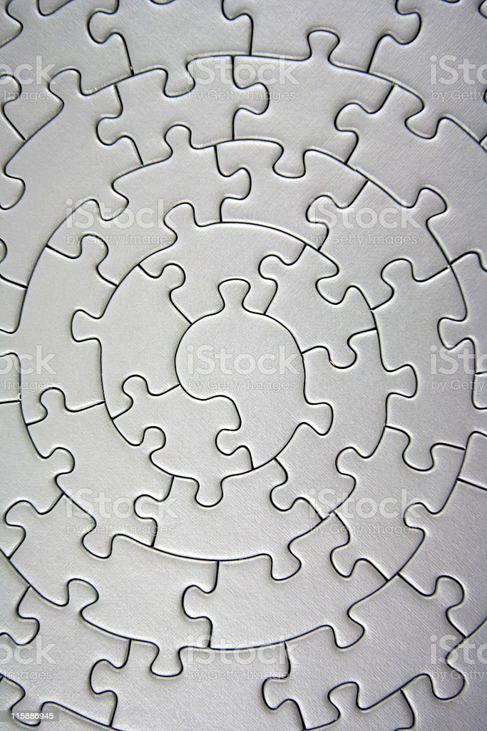 complete grey jigsaw wide angle royalty-free stock photo