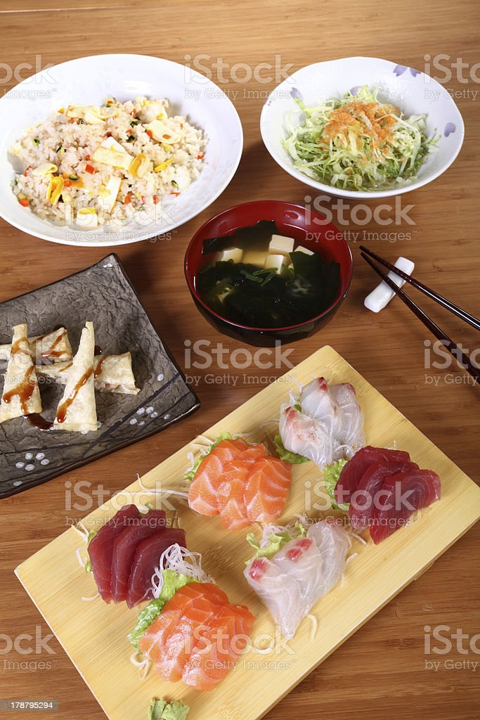 complete japanese menu royalty-free stock photo