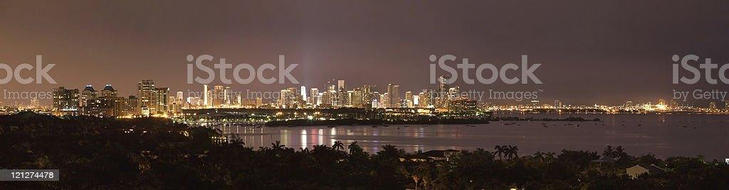 Complete Miami Panorama stock photo