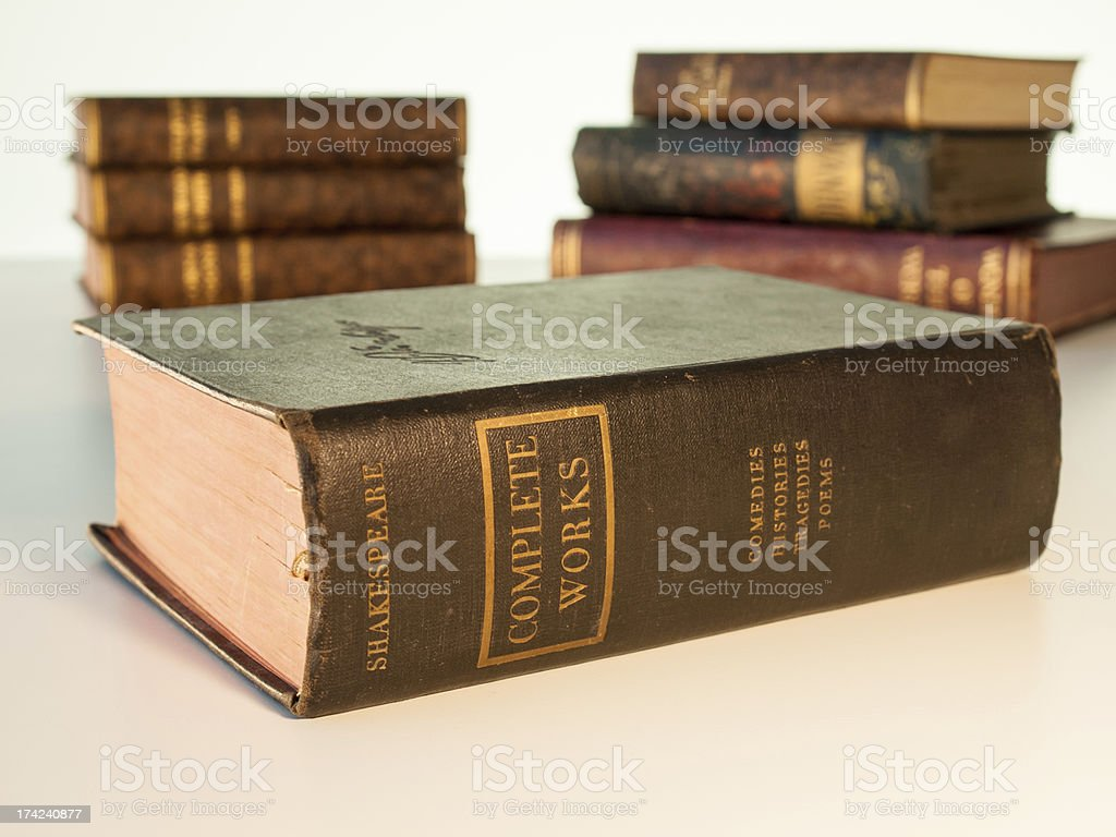 complete works of shakespeare royalty-free stock photo