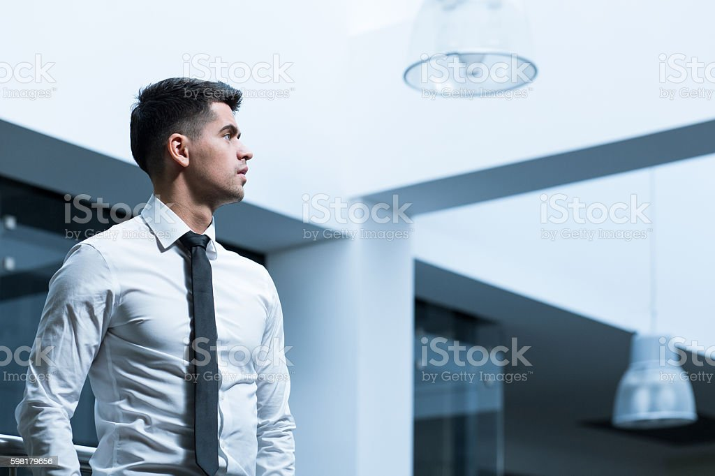 Completely focused on a task stock photo