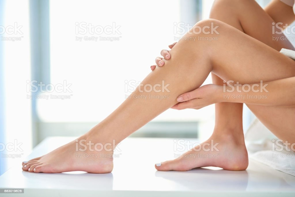 Completely smooth and soft to the touch stock photo