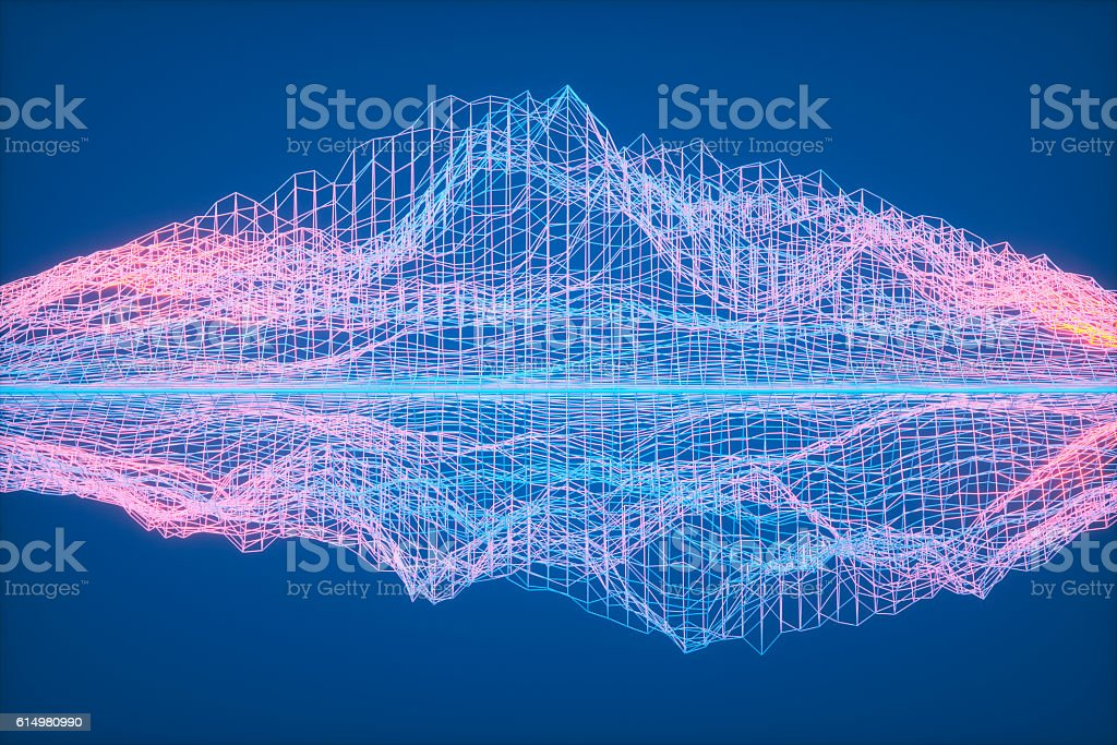 Complex abstract connections stock photo
