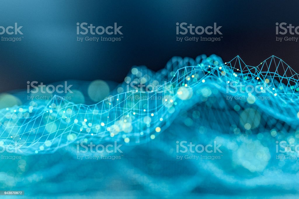 Complex abstract graph background stock photo