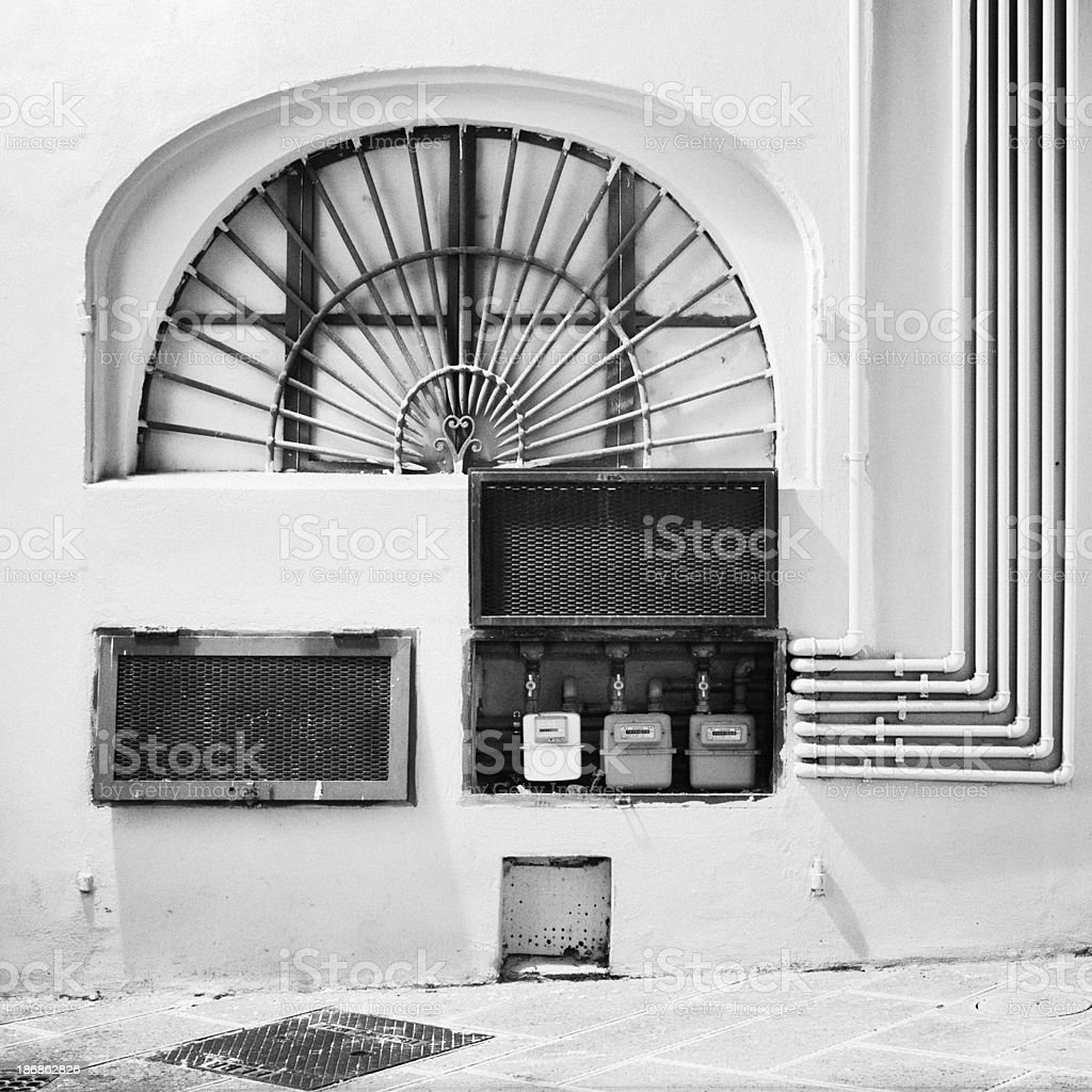 Complex architectural detail - Pisa, Italy royalty-free stock photo