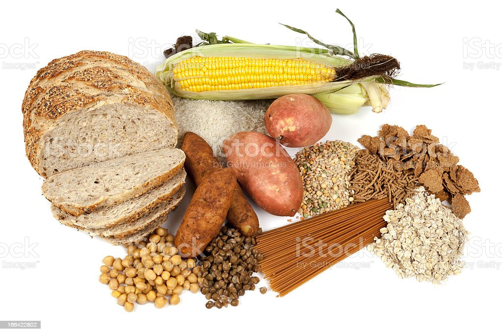 Complex Carbohydrates Food Sources stock photo
