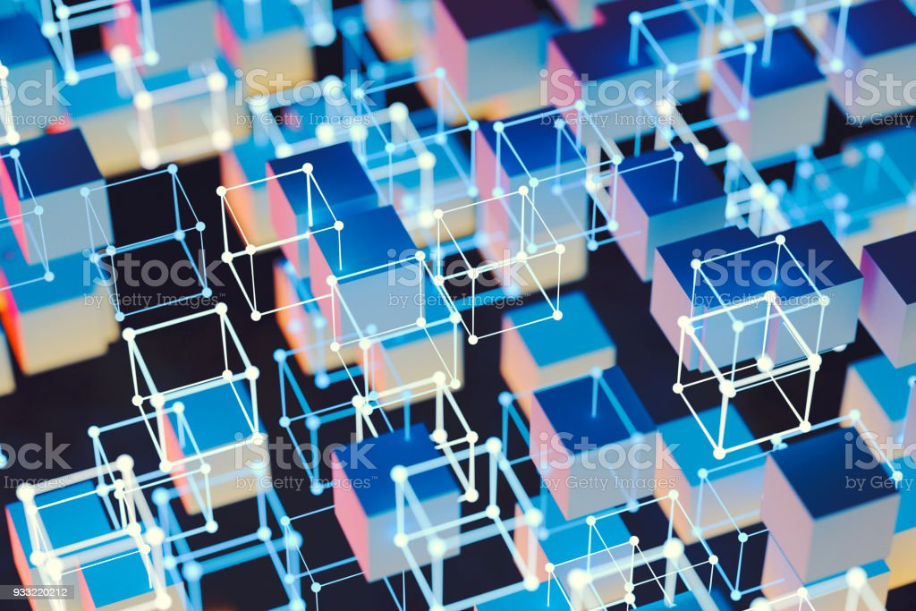 complex glowing cubes for abstract background stock photo more