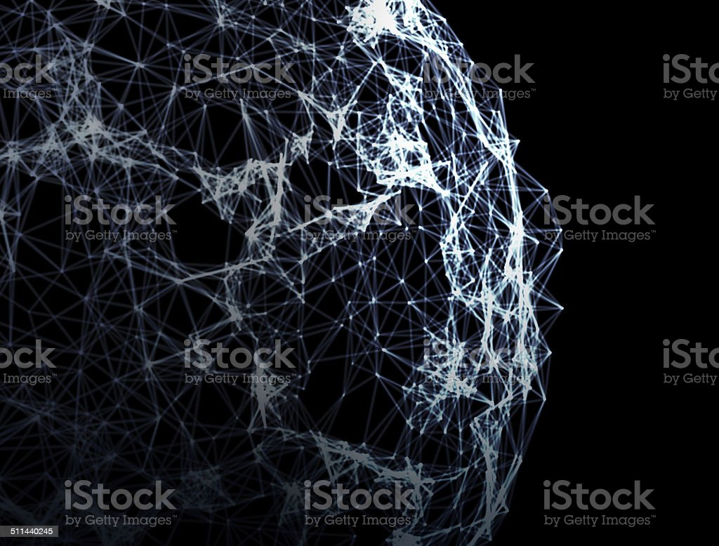 Complex network connections stock photo