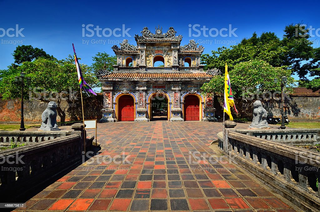 Complex of Hue monuments ,Vietnam stock photo