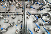istock Complex pipeline switching system, many ball valves 908948850