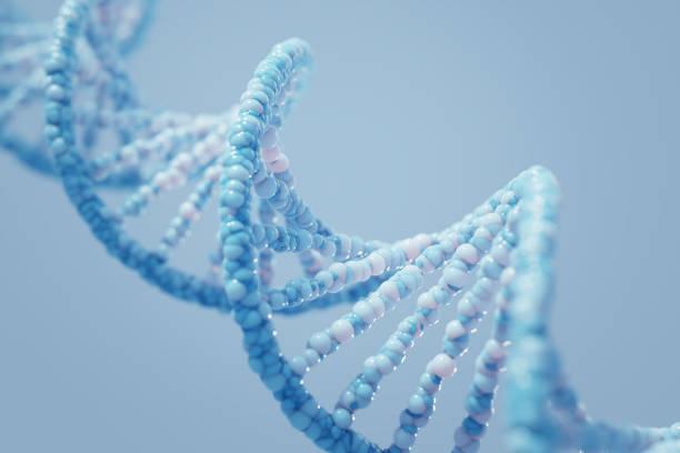 DNA complex spiral structure stock photo
