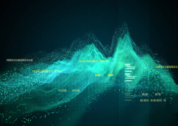 Complex Technical Graph Background stock photo