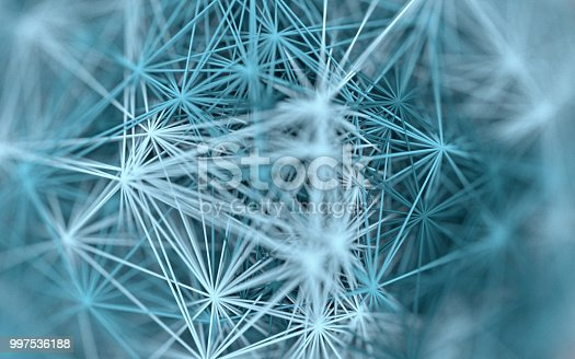 Complex blue material on a white background, 3d