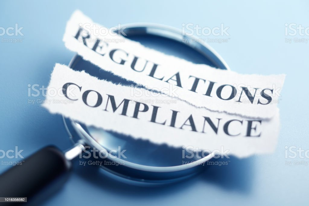Compliance And Regualtion Concept stock photo