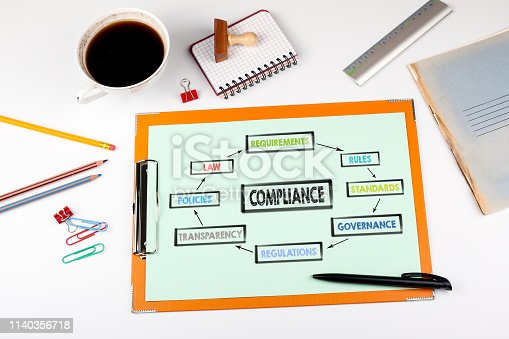 700303384 istock photo Compliance concept. Chart with keywords 1140356718