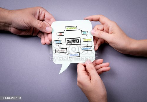 700303384 istock photo Compliance concept. Chart with keywords 1140356719