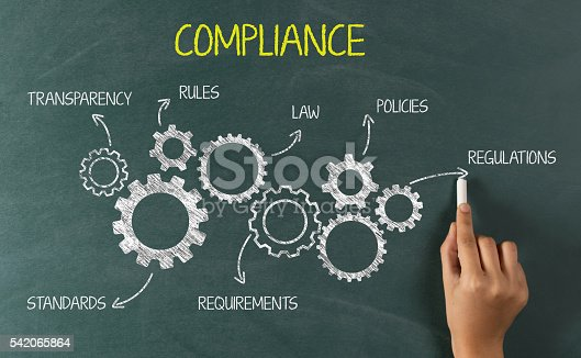 istock Compliance Concept on Chalkboard 542065864