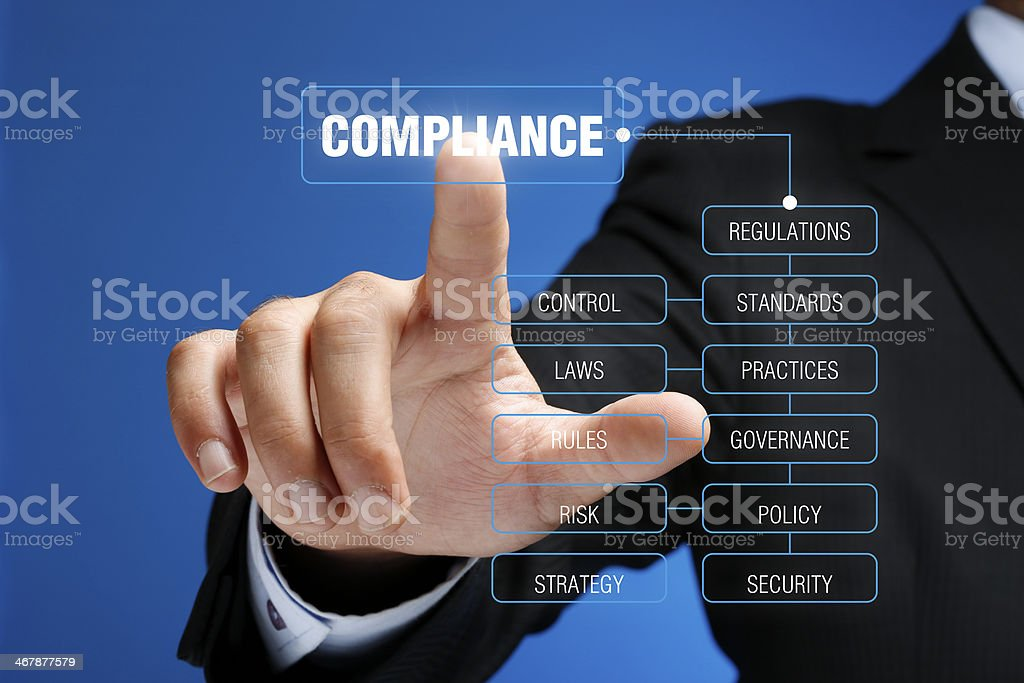 Compliance Concept on Interface Touch Screen royalty-free stock photo