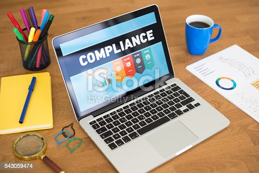 istock Compliance Concept on Laptop Screen 543059474