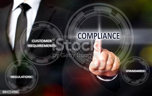istock Compliance Concept On Virtual Screen 694224592