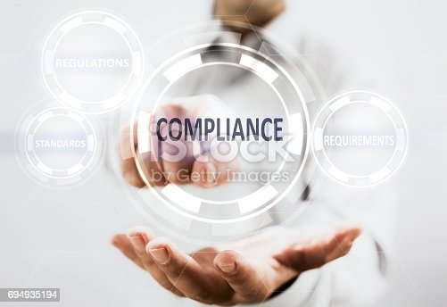 istock Compliance Concept On Virtual Screen 694935194
