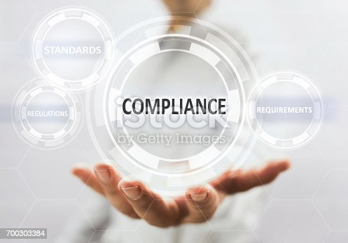 istock Compliance Concept On Virtual Screen 700303384