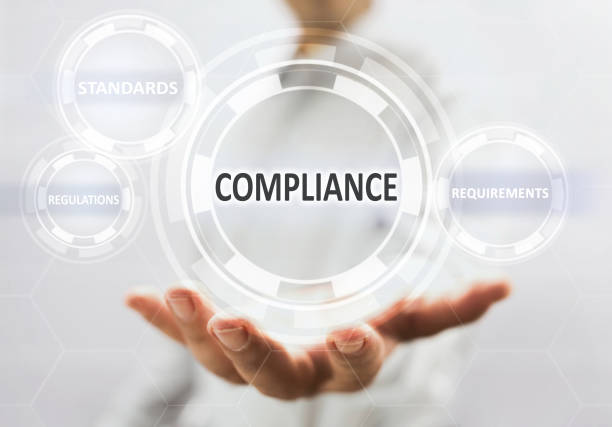 Compliance Concept On Virtual Screen stock photo