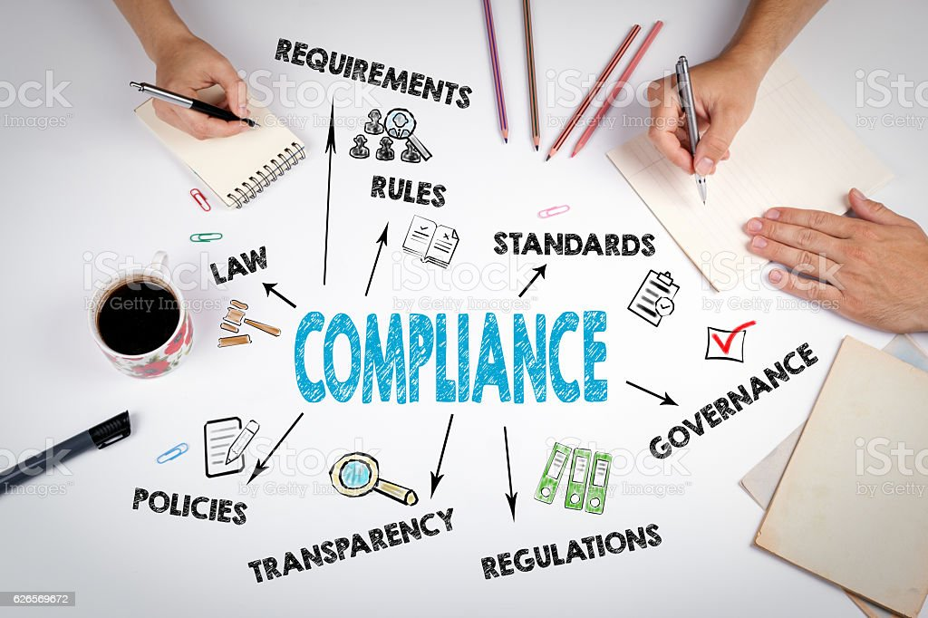 Compliance Concept. The meeting stock photo