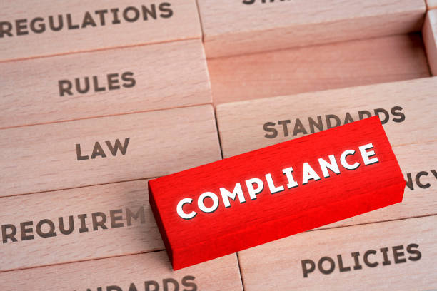 Compliance Concept with Wooden Blocks in Red Color Obedience, Conformity, Law, Agreement, Contract obedience stock pictures, royalty-free photos & images