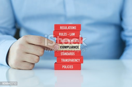 istock Compliance Concept with Wooden Blocks 939942712