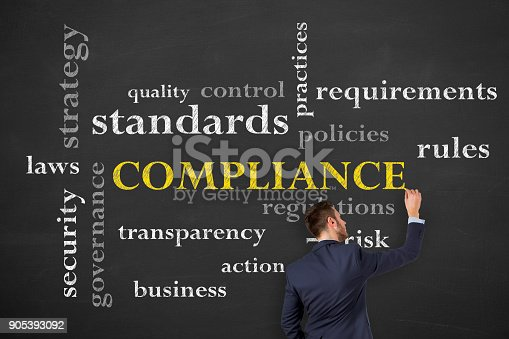 istock Compliance Concepts on Chalkboard 905393092