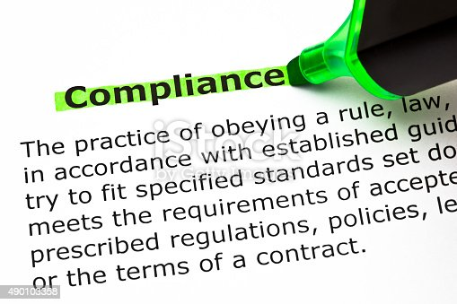 531925785 istock photo Compliance Definition 490103358