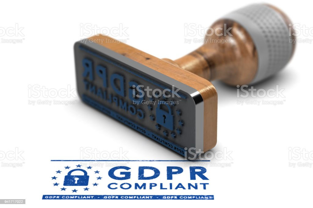GDPR Compliance, EU General Data Protection Regulation Compliant stock photo