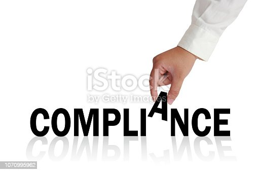 istock Compliance, Motivational Business Marketing Words Quotes Concept 1070995962