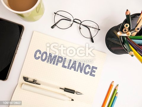 istock Compliance, Motivational Business Marketing Words Quotes Concept 1091972802