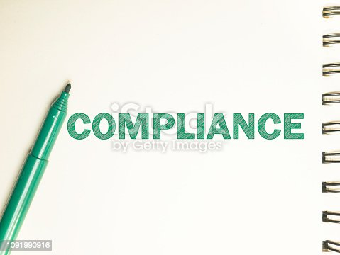 istock Compliance, Motivational Business Marketing Words Quotes Concept 1091990916