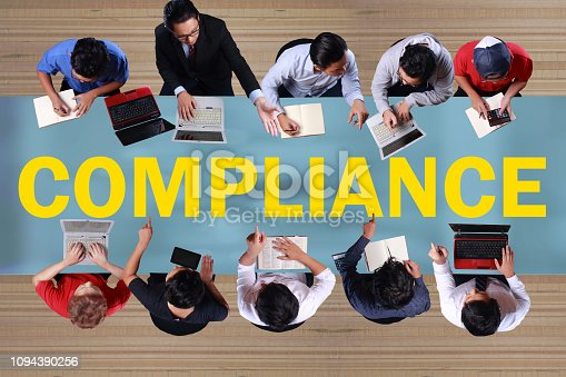 istock Compliance, Motivational Business Marketing Words Quotes Concept 1094390256