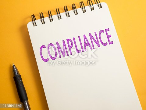 istock Compliance, Motivational Business Marketing Words Quotes Concept 1145941149