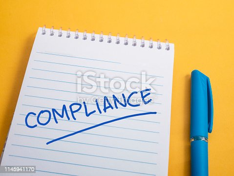 istock Compliance, Motivational Business Marketing Words Quotes Concept 1145941170