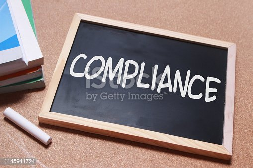 istock Compliance, Motivational Business Marketing Words Quotes Concept 1145941724