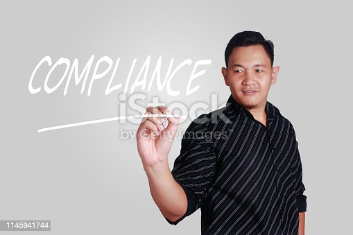 istock Compliance, Motivational Business Marketing Words Quotes Concept 1145941744