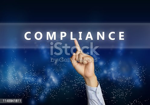 istock Compliance, Motivational Business Marketing Words Quotes Concept 1145941811