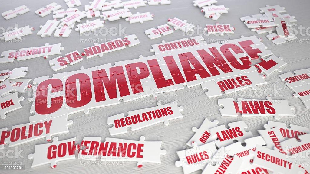 Compliance puzzle stock photo